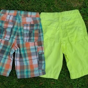 2 Pair Brothers American Eagle Boys Size 7 Shorts